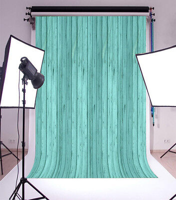 Green Wood Board Plank 5x7ft Photography Backgrounds Seamless Photo Backdrops