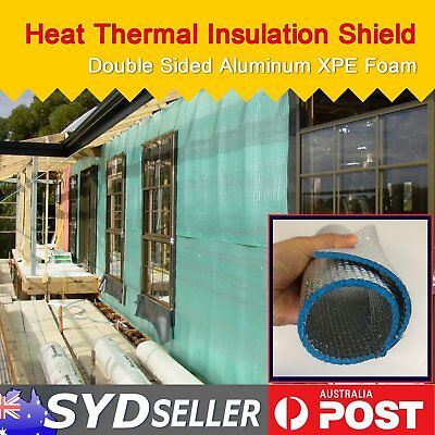 Shed Loft Home Wall Roof Thermal Heat Insulation Anti Frame Foam Shield 1M x 18M