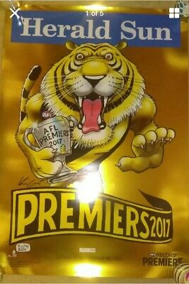 MARK KNIGHT LIMITED EDITION 931/1000 RICHMOND 2017 PREMIERS gold FOIL POSTER NEW
