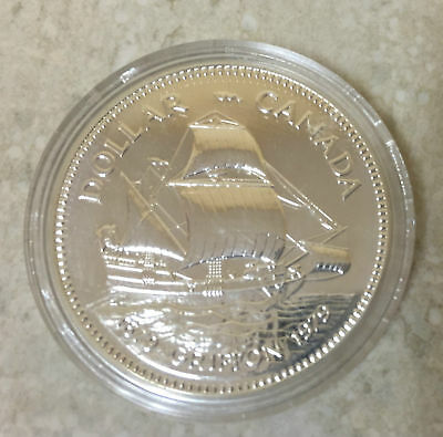 1979 Griffon Ship Silver Dollar in a capsule and case