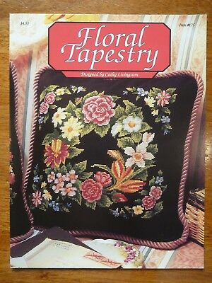 Cross Stitch Pattern Leaflet #175-Floral Tapestry-Designed By Cathy Livingston