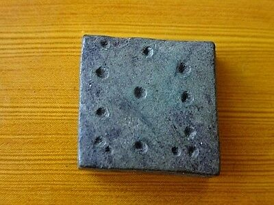Authentic Medieval Byzantine Bronze Square Weight Circa 800-1100 AD Very Rare