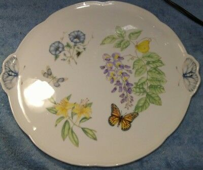 Lenox Brand BUTTERFLY MEADOW Cake Plate 1978586 High Quality Collector Item
