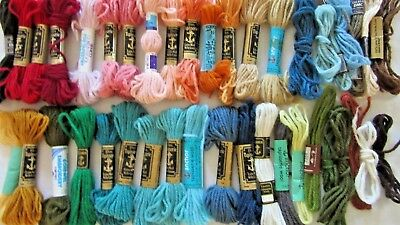 TAPESTRY WOOL x 20+ Skeins - Semco, Anchor & DMC- Some are used/ remnant -Lot 10