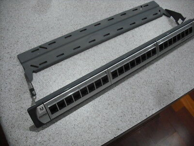 Patch Panel 24 Port Clipsal Cat5E Titanium Network Cables With Cable Support
