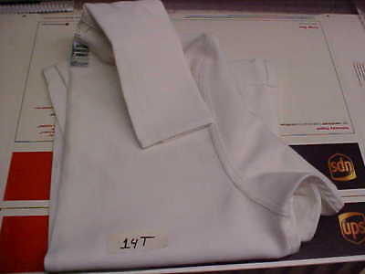 USN Navy Sea Cadet Enlisted Female Dress White Jumper Blouse top 14T loc#w30