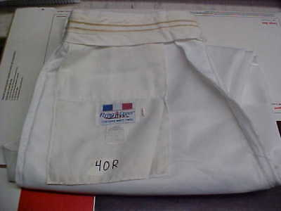 USN Navy Sea Cadet Officer Midshipman INST Male Dress White Trousers 40R loc#w37