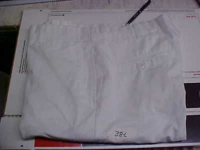 USN Navy Sea Cadet Enlisted Male Dress White Trousers Bell Bottoms 38L loc#w44