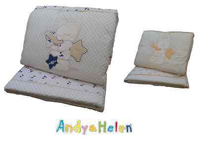 Winter quilt Crib Cot Piumotto Embroidered + Cot bumpers ANDY & HELEN 6/25