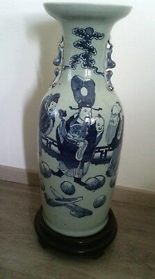 Qing Dynasty, 19Th Century ,a Celadon-Ground Underglaze Blue