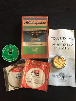 Vintage Collectable Shakespeare Fishing Tackle & Line Cleaner & Fly Line Guide