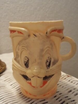 Vintage1977 Warner Bros Looney Tunes BUGS BUNNY Collectable Plastic Mug/Cup RARE