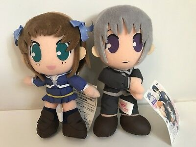 "Fruits Basket ~Manga~ Tohru and Yuki 8"" plush dolls ~ RARE 2001"