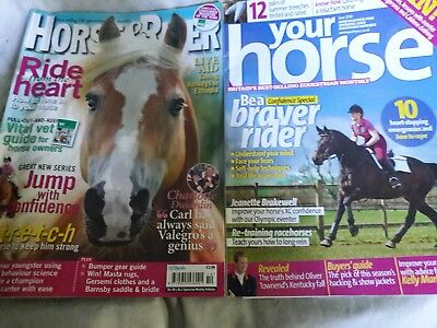 Horse mags - Your Horse June 2010 issue and Horse & Rider Oct 2012 issue