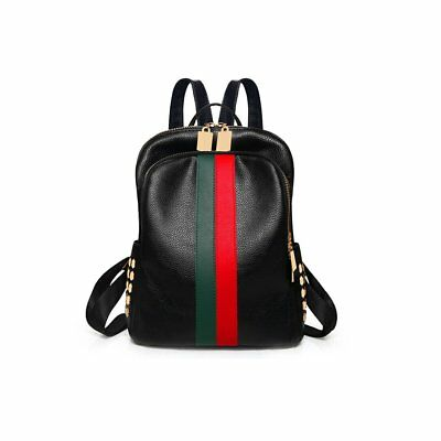 Ladies Luxury Leather Bag Backpack Gucci Pattern Tote Handbag Gift For Women --
