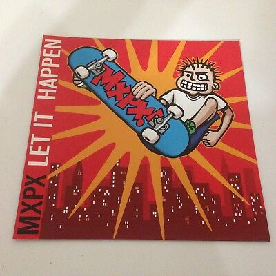 MXPX Let It Happen Double Sided Poster Flat! Vinyl LP/CD promo! punk rock NEW!!!