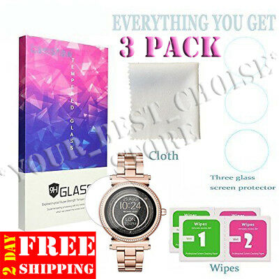 3 Pcs Michael Kors Access Sofie Gen 2 Screen Protector Tempered Glass Smartwatch