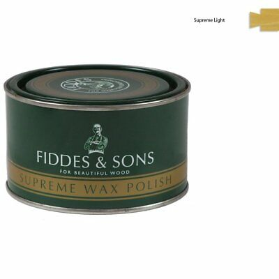 Fiddes Supreme Light/Clear Wood Wax Polish/Restorer 400ml