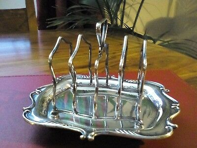 A Vintage Silver Plated Toast Rack - Rare & collectable