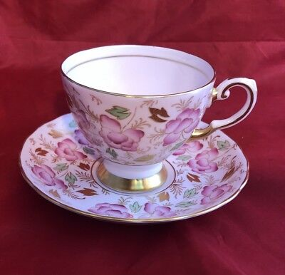 Tuscan Fine Bone China Blush Flora Pink Flowers Floral Tea Cup and + Saucer Set