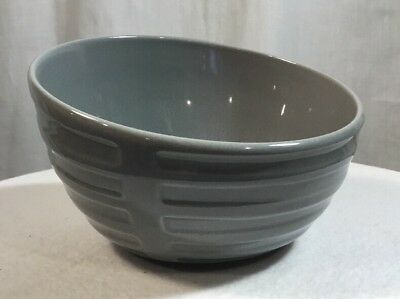 IKEA Bowl Gray 18004~Large Salad/ Dessert Bowl~Lot/3