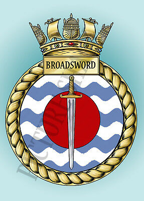 HMS ANTELOPE CREST ON A METAL SIGN 5 x 7 INCHES FITS STANDARD PHOTO FRAME.