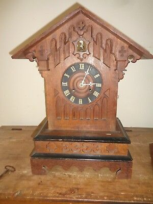 Antique Mantel Cuckoo Clock - In Need Of Restoration