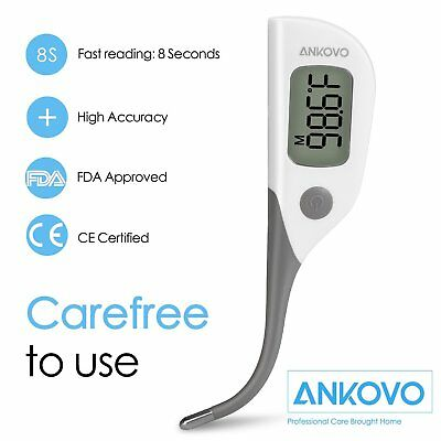 ANKOVO Waterproof Fast 8 Seconds Reading Digital Baby Thermometer