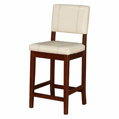 Linon Milano 24 In Counter Stool Walnut