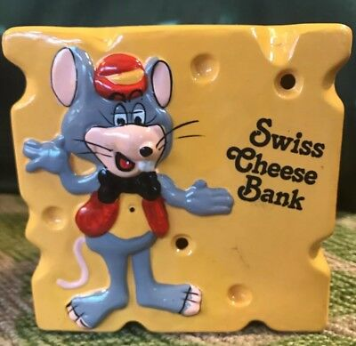 1983 Chuck E Cheese Ceramic Bank Triangle Cheese RARE Pizza Time Theater Mouse