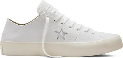 CONVERSE CONS ONE Star Prime Ox White Leather Low Shoes Sz