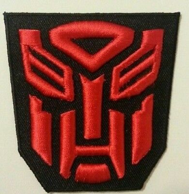 """Transformers Patch~3 1/8"""" x 3 1/8""""~Embroidered Applique~Iron or Sew on~FREE Mail"""