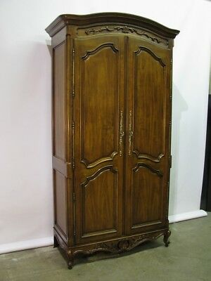 Century Furniture French Provincial Style Armoire; 6 Interior Drawers & Storage
