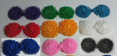 Frog Fasteners Button Knots 9 different colours # S23