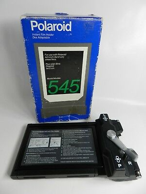 Polaroid 4x5 Land Film Holder 545 Mint In Box Super Condition New Old Stock