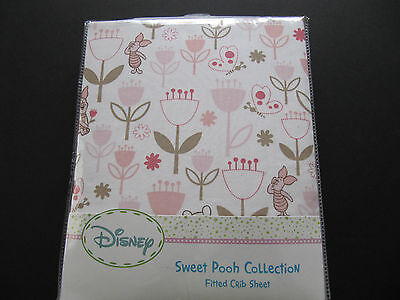 Kidsline Sweet Pooh Collection   Fitted Crib Sheet Pooh, Piglet Pink Brown Nip