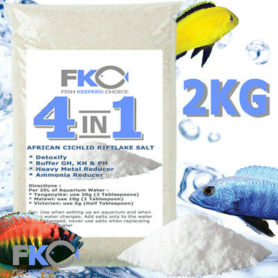 Fish Keepers Choice 4 in 1 African Cichlid Aquarium Water Conditioner Salt 2kg