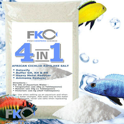 Fish Keepers Choice 4-1 African Cichlid Aquarium Water Conditioner Salt Buffer