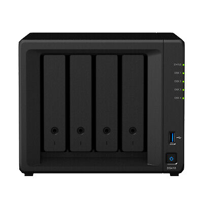 Synology DiskStation DS418 4 Bay Diskless NAS Quad Core CPU 2GB