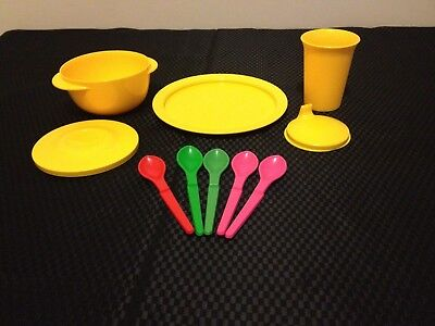 Genuine Tupperware Aussie Seller TupperCare Dinning Set Yellow Kids / Baby B/NEW