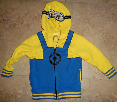 Cool Despicable Me Minion Hooded Jacket Size 4T