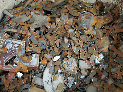 "Lot of Misc Scrap Shapes Rusty Vintage Metal Craft Sign .25"" - 2"" DIY Pieces"