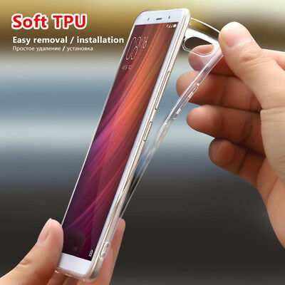 For Xiaomi Redmi Note5A Note4X Ultra Thin Clear Soft Silicone Gel TPU Case Cover
