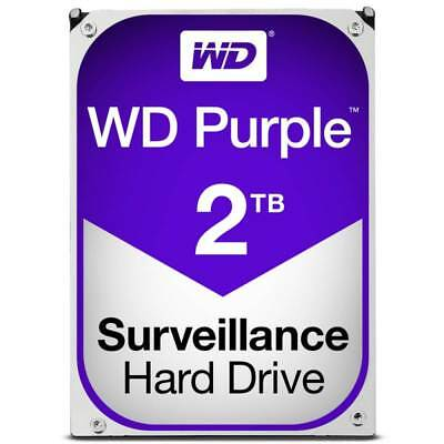"Western Digital WD 2TB Purple 3.5"" Desktop Surveillance Hard Drive HDD WD20PURZ"
