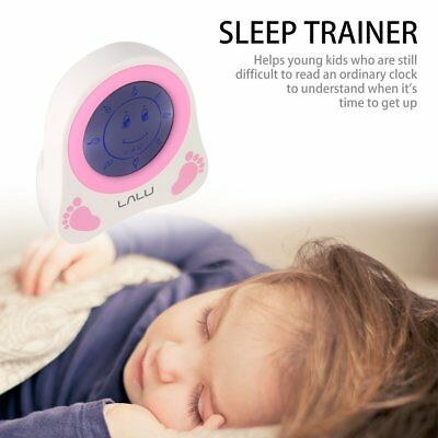 LALU Chidlren Sleep Trainer Simulation of Diurnal Change Graphic Clock Alarm KF