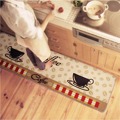 FX- Soft Coffee Cup Pattern Small Rug Bedroom Kitchen Anti-slip Mat Carpet Dream