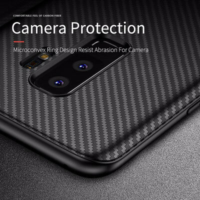 For Samsung Galaxy S9 Plus Best Silicone Carbon Fiber Case Coer-Soft Protective