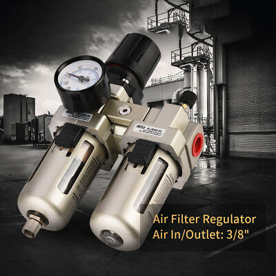 AC3010-03 Air Compressor Filter 3/8 Water Separator Trap Kit With Regulator hby