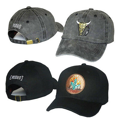 black Travis Travi$ Scott Rodeo Hat Tour Cactus Strapback baseball Caps