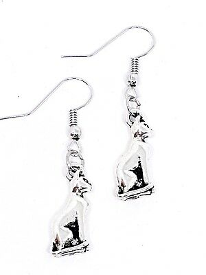 Earrings Bast Bastet Egyptian Cat Front Facing 3d Design Black Panther